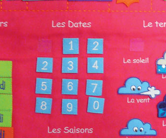 Calendrier éducatif Basic Rose