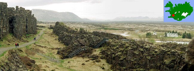 Site de Thingvellir en Islande