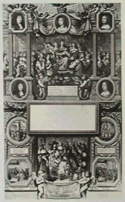 Almanach 1662 : Le trône royal de la France