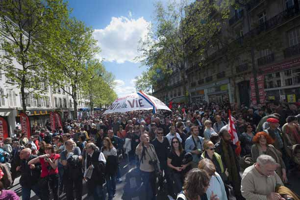 Manifestation le 1er mai au 86 bd Saint Michel à Paris