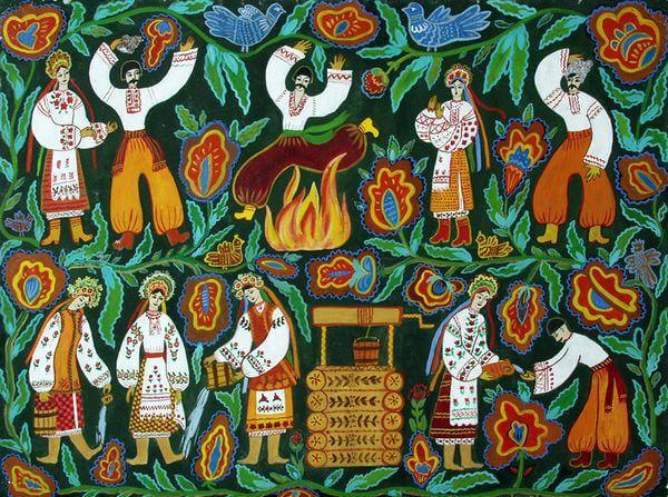 Illustration de la Saint-Jean, 1978, par В.М. Semenyuk, musée d'art régional Kherson