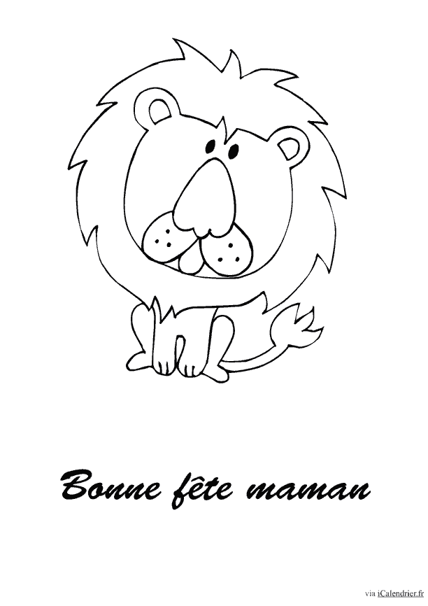 Un coloriage d'un lion