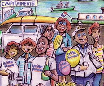 Illustration officiele de la Fête des Plaisanciers 2013 © Cutty Sark