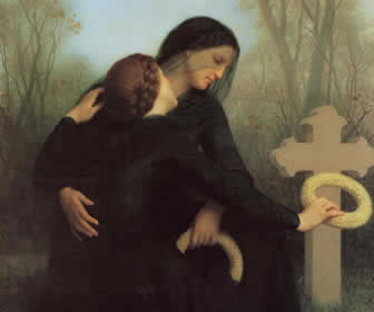 Toile de William-Adolphe Bouguereau - Le Jour des Morts, 1859