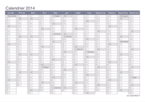 Calendrier 2014 - office