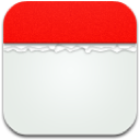 Calendar Red Canvas : icone de calendrier rouge par Raadius