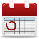 Calendar Red Nodate : icone de calendrier rouge par Custom Icon Design
