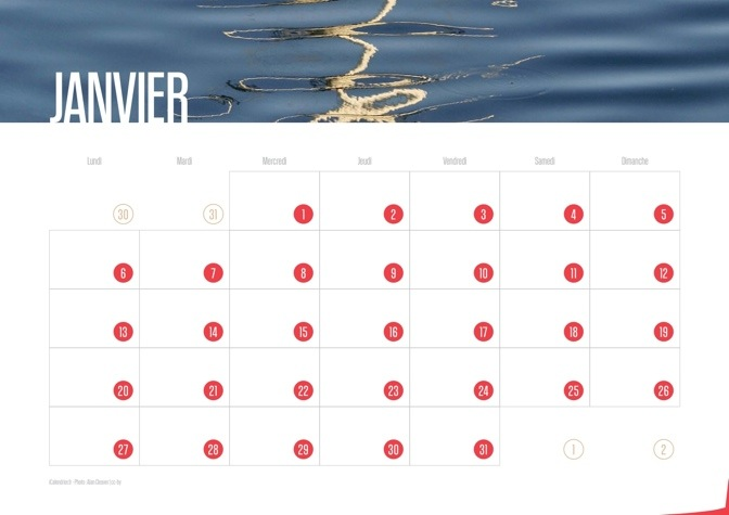 Calendrier 2014 Waves