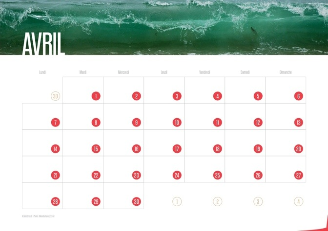 Calendrier JPEG Avril 2014 Waves