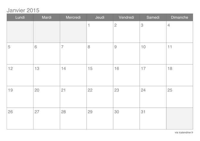 Page Calendrier.Calendrier 2015 Mensuel A Imprimer Icalendrier