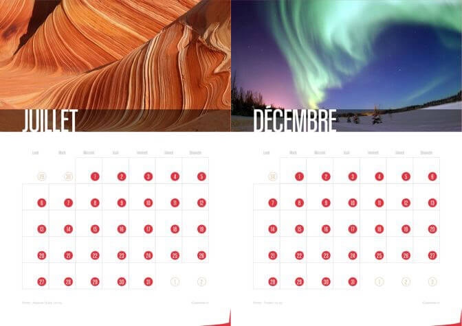 Calendrier 2015 Waves