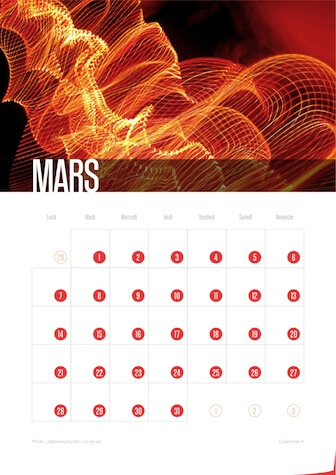 Calendrier JPEG Mars 2016 Waves