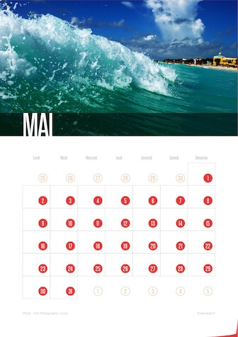 Calendrier JPEG Mai 2016 Waves