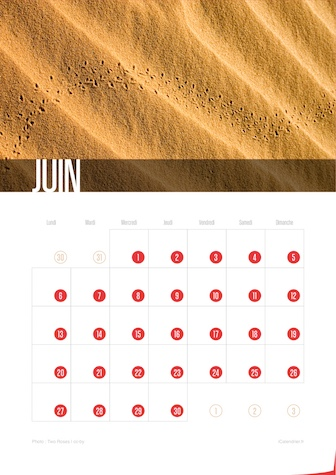 Calendrier JPEG Juin 2016 Waves