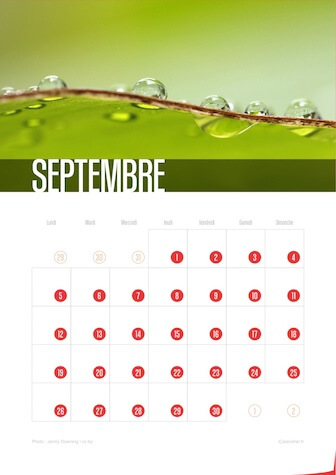 Calendrier JPEG Septembre 2016 Waves
