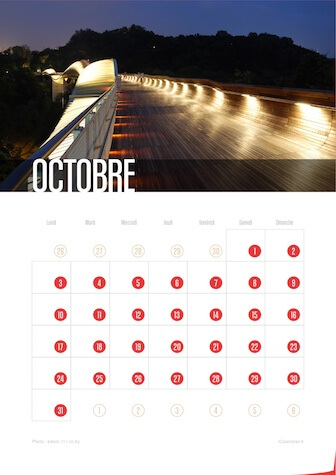 Calendrier JPEG Octobre 2016 Waves