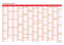 Calendrier 2017 - cherry